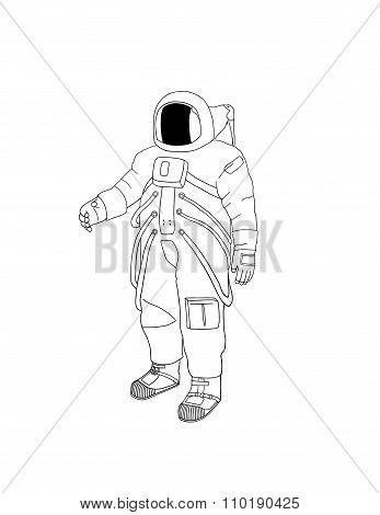 Astronaut Digital Drawing