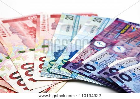 Hong Kong Dollar Bank Note. Hong Kong Dollar Is The National Currency Of Hong Kong