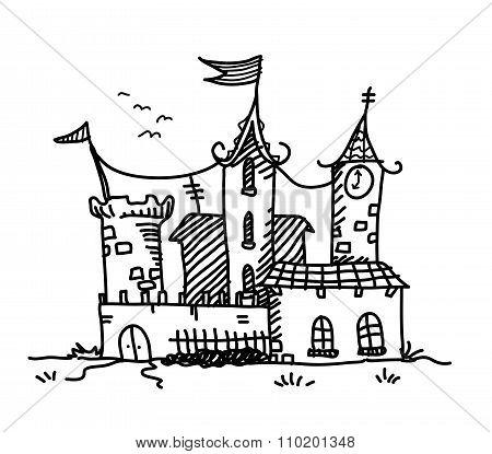 Medieval Mansion Doodle