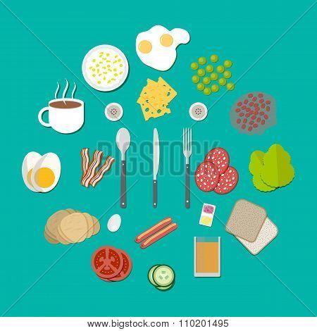 Breakfast components set