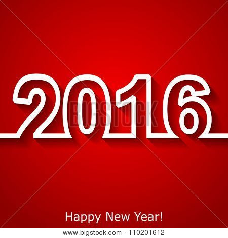 Creative New Year 2016 text design. Vector eps10 illustration