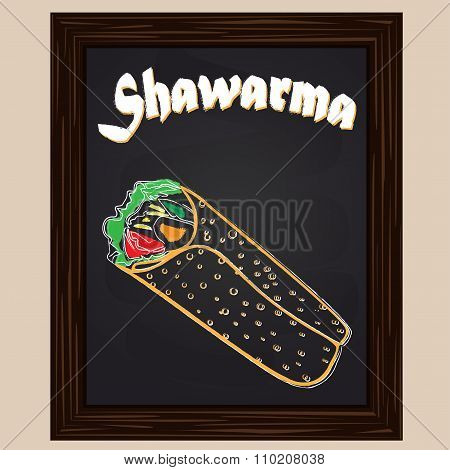 Hot Shawarma Chalkedpainted With Chalk