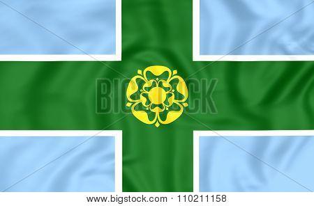 Flag Of Derbyshire, England.