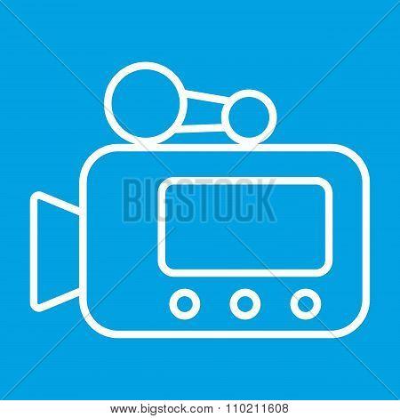 Video camera thin line icon