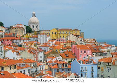 Alfama In Lisbon In Summer