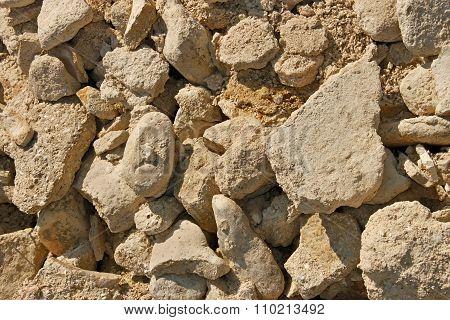 Limestone Stones And Sand