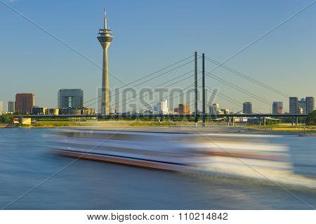 Sunset In Dusseldorf