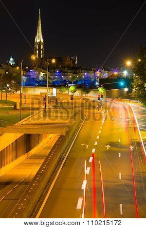 Bordeaux Road At Summer Nights