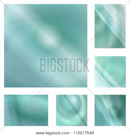 Light teal gradient abstract background set