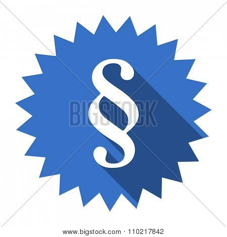 paragraph blue flat icon