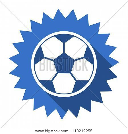 soccer blue flat icon