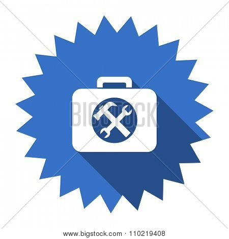 toolkit blue flat icon