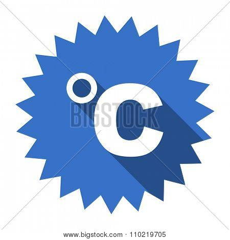celsius blue flat icon