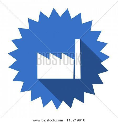factory blue flat icon