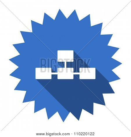 database blue flat icon