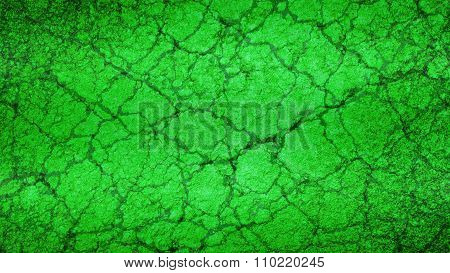 Green Old cracked grunge background texture