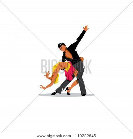 Tango dance. Vector Illustration.