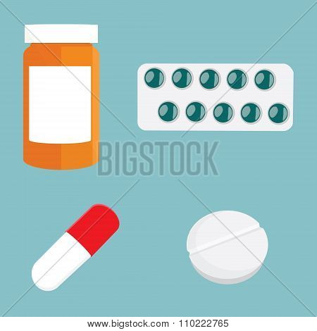 Medication Icon Set