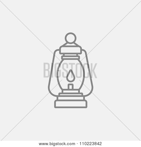 Camping lantern line icon for web, mobile and infographics. Vector dark grey icon isolated on light grey background.
