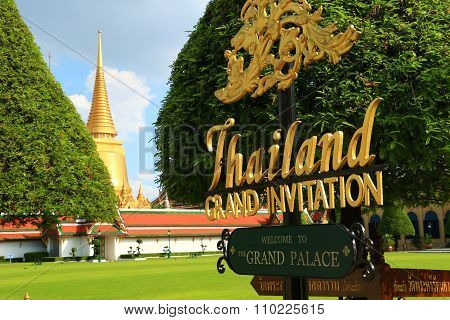 Temple of the Emerald Buddha; full official name Wat Phra Si Rattana Satsadaram in Bangkok, Thailand