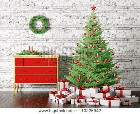Christmas Interior 3D Rendering
