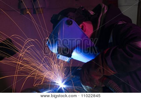 Mig Welding Close Up