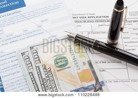 Visa Application With Customs Declaration