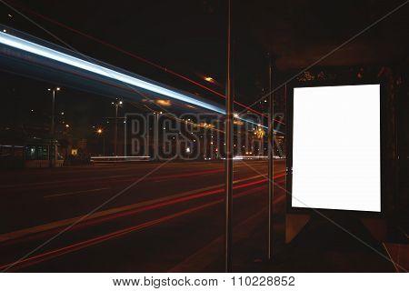 Empty poster on roadside