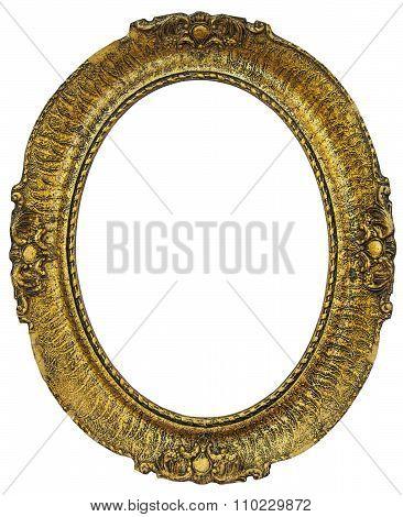 Oval  Wooden Gilded Frame