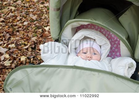 baby outdoors in fall