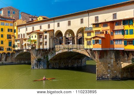 River Arno and Ponte Vecchio, Florence, Italy