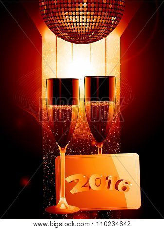 Champagne And Gold Message Tag 2016
