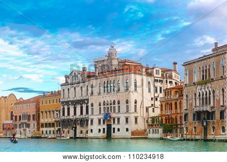 Venetian Gothic Palace on Grand canal, Venice