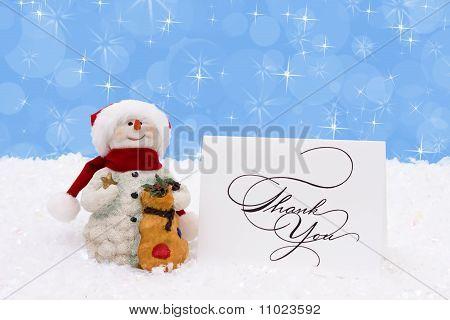 Agradecido muñeco de nieve