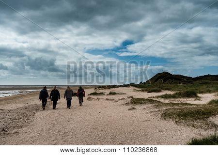 Beach In Sonderho At Fanoe In Denmark Where The Wadden Sea Begins