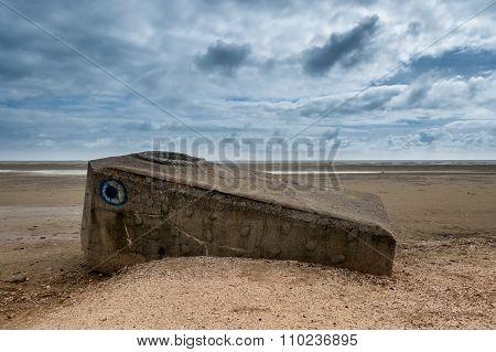 World War 2 Bunker On Fanoe At The Danish North Sea