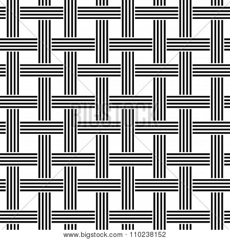 Repeating black and white weave pattern