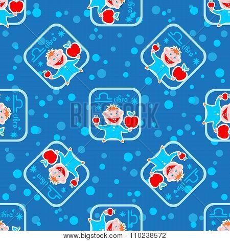 libra seamless pattern