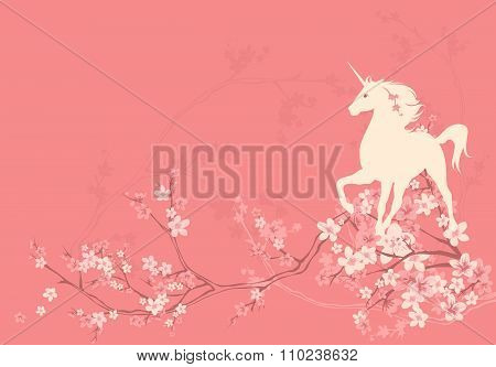 Spring Unicorn Background