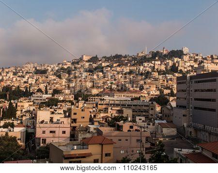 City of Nazareth panoramic view Israel