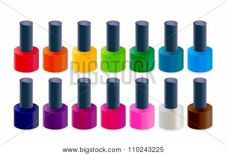 Realistic Nail Polish Vector Illustration