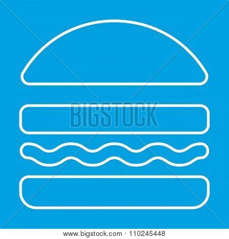 Burger thin line icon