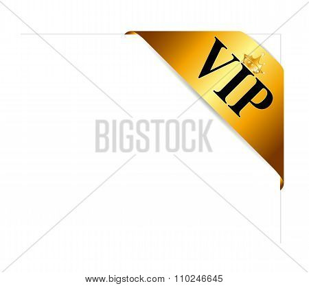 VIP Ribon on Card Vector Illustration