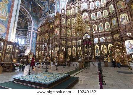 Nizhny Novgorod, Russia - 03.11.2015. The interior of Cathedral  St. Alexander Nevsky. 19th century