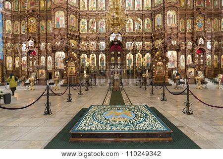Nizhny Novgorod, Russia - 03.11.2015. The interior of Cathedral  St. Alexander Nevsky.19th century