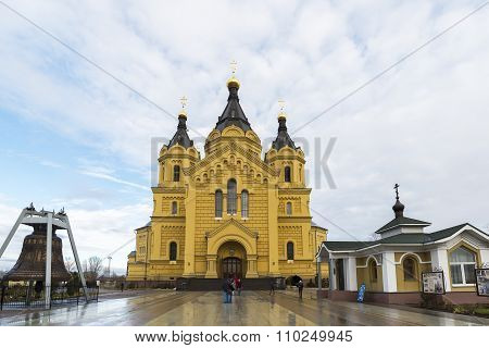 Nizhny Novgorod, Russia - 03.11.2015.   Cathedral  St. Alexander Nevsky. 19th century