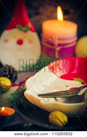 Christmas Table Festive Supper Setting Eve
