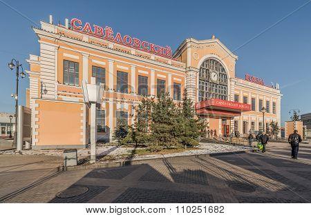 Savyolovsky Railway Station In Moscow.