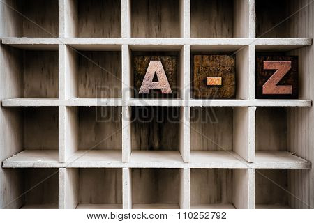 A-z Concept Wooden Letterpress Type In Draw