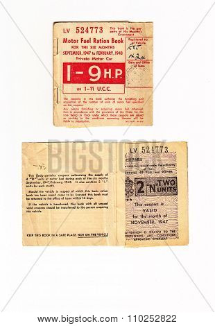 Motor Fuel Ration Book UK